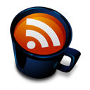 coffee cup RSS icon