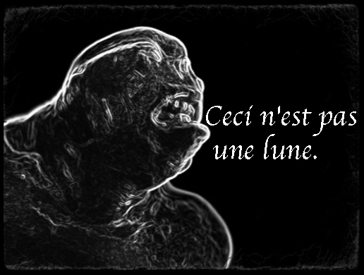 the MOOCMOOC monster with the caption Ceci n'est pas une lune