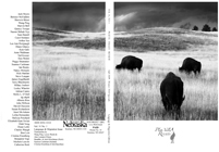 The cover of Platte Valley Review, featuring a black and white photograph of grazing buffalo.